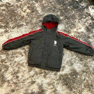 US Polo Assn Boys S/8 Reversible Hooded Jacket